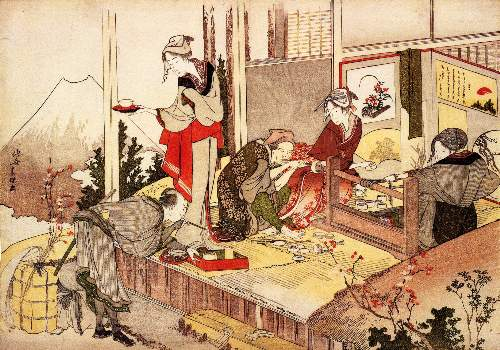 Hokusai - The studio of Netsuke