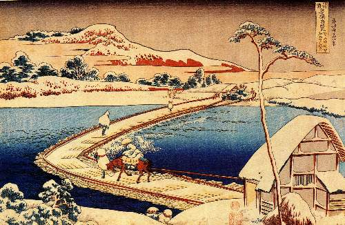 Hokusai - The swimming bridge of Sano
