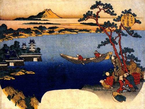 Hokusai - View of lake Suwa