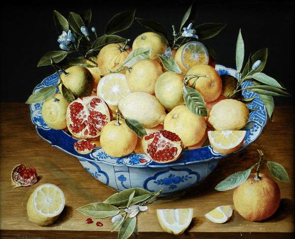 Hulzdonck - Still life with lemons oranges and a pomegranate