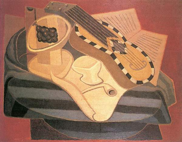 Juan Gris - Guitar with ornaments