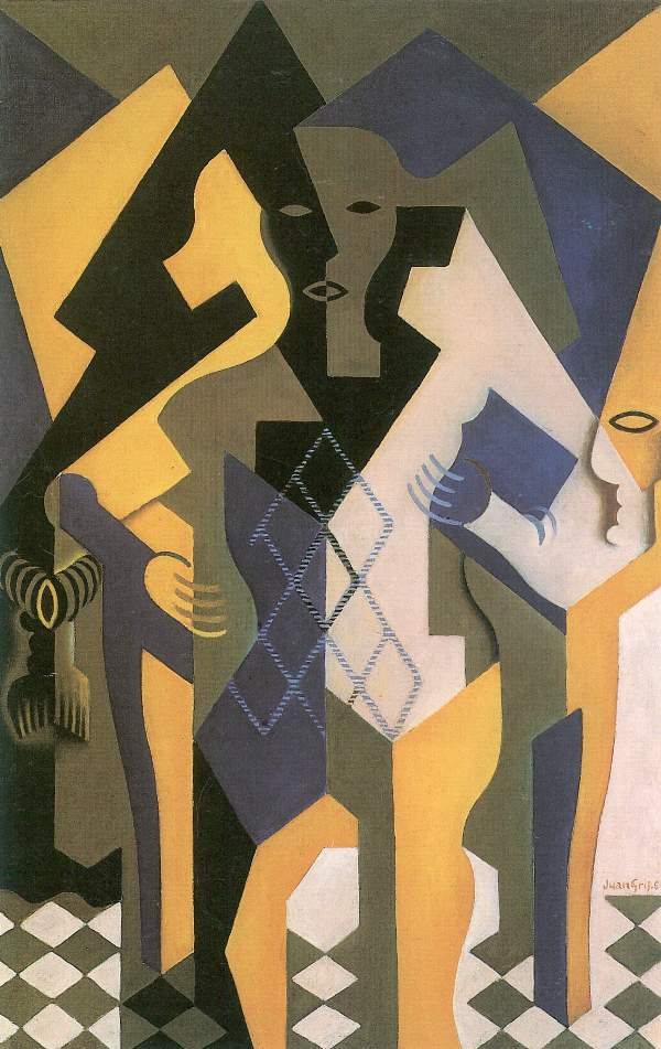 Juan Gris - Harlequin with table