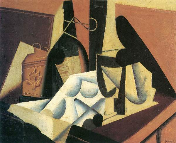 Juan Gris - Still Life with a white tablecloth