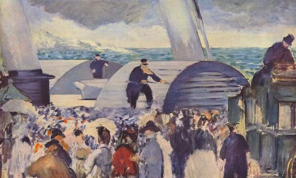 Manet - Embarkation after Folkestone