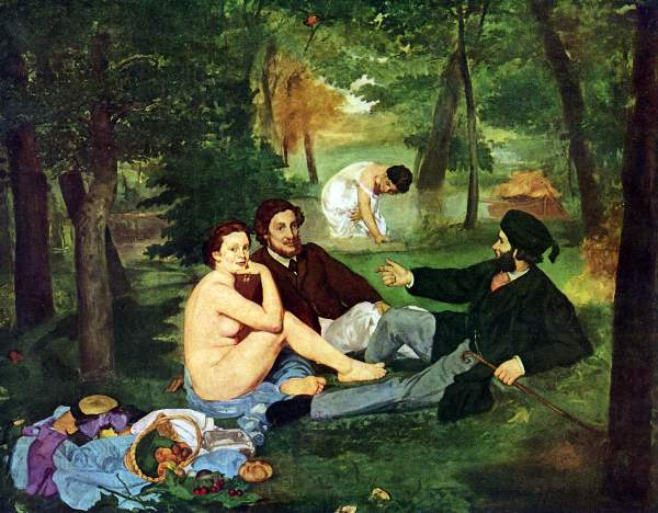 Manet - Luncheon on The Grass 1863