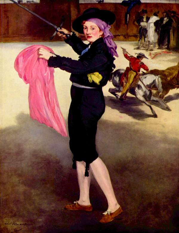 Manet - Mlle. Victorine in the Costume of a Matador