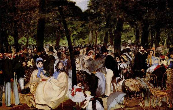 Manet - Music in Tuilerie Garden