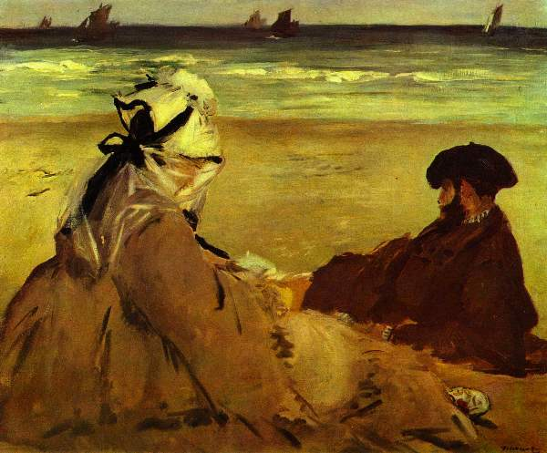 Manet - On the beach