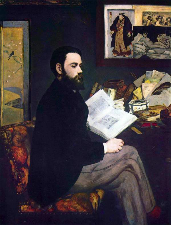 Manet - Portrait of Emile Zola