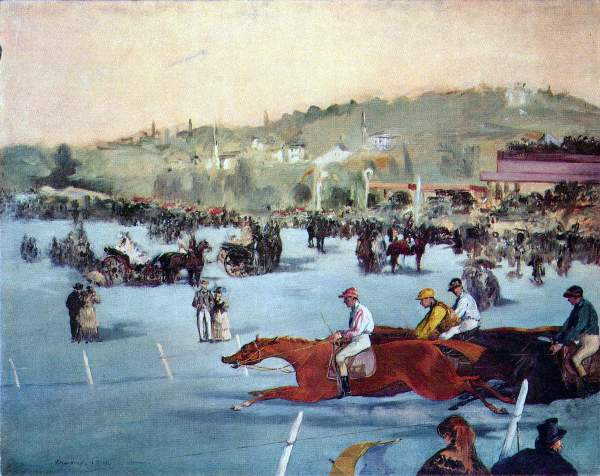 Manet - Races at the Bois de Boulogne