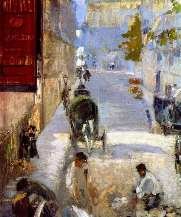 Manet - Road workers, rue de Berne (detail)