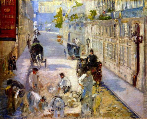 Manet - Road workers, rue de Berne