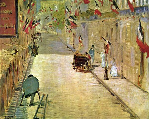 Manet - Rue Mosnier with Flags