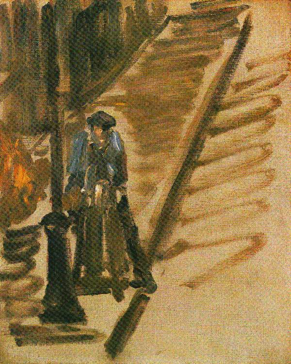 Manet - Rue Mossnier with Knife Grinder
