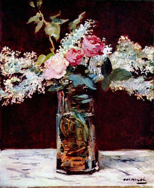 Manet - Still life, lilac and roses