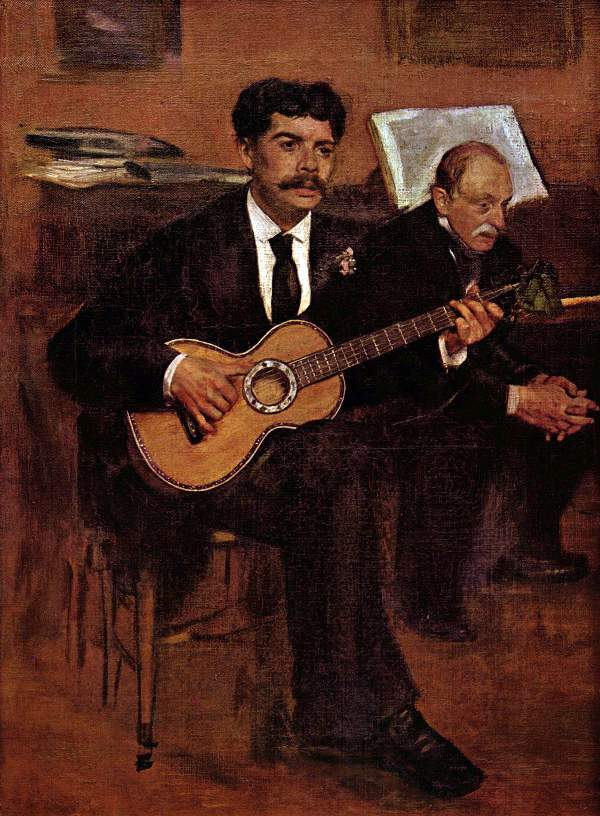 Manet - The guitarist Pagans and Monsieur Degas