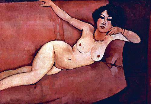 Modigliani - Act on a sofa (Almaiisa)