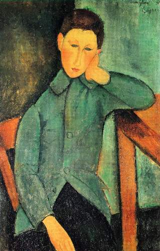 Modigliani - Boy in a blue jacket