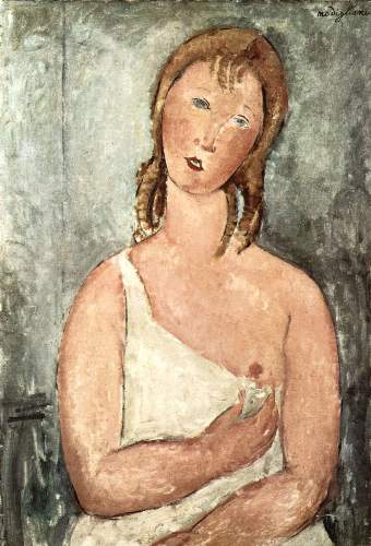 Modigliani - Girl in shirt