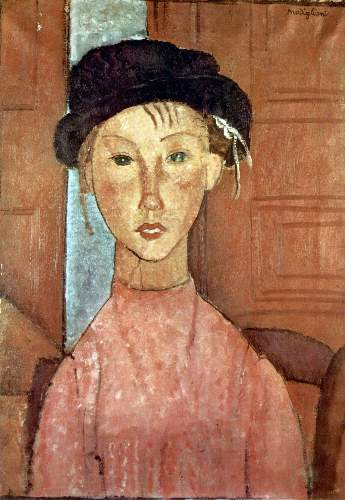Modigliani - Girl with Hat