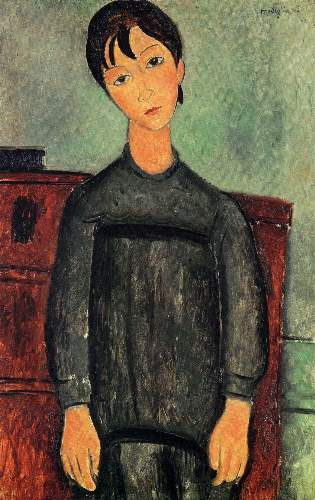Modigliani - Girl with a black robe