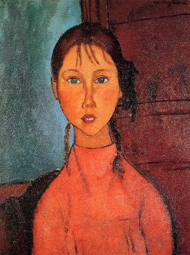 Modigliani - Girl with plaits