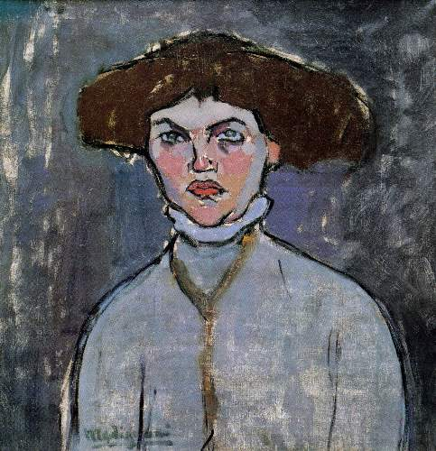 Modigliani - Head of a young woman