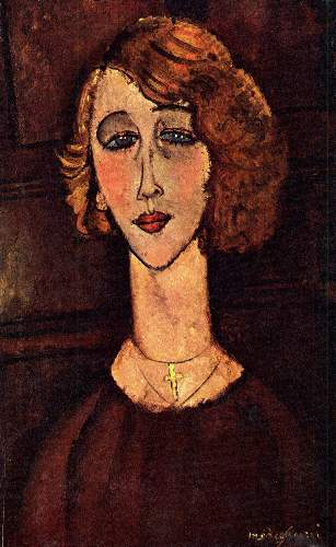 Modigliani - Lady with a green cross