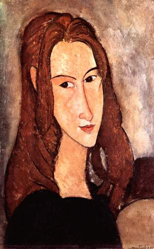 Modigliani - Portrait of Jeanne Hebuterne, profile