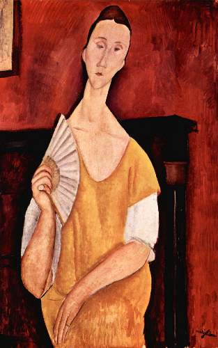 Modigliani - Portrait of Lunia Czechowska with fan