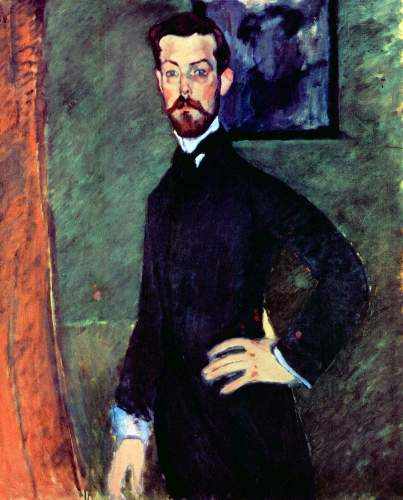 Modigliani - Portrait of Paul Alexanders before a green background