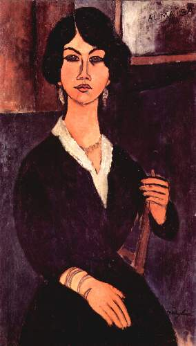 Modigliani - Portrait of a sitting woman