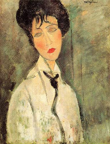 Modigliani - Portrait of a woman with a black tie