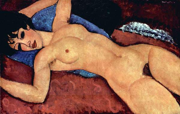 Modigliani - Reclining Nude by  Modigliani