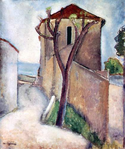 Modigliani - Tree and House