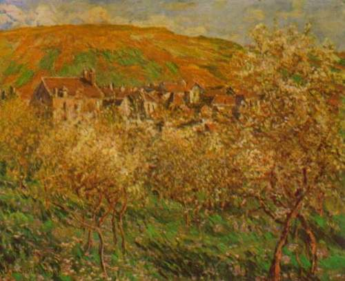 Monet - Blooming apple trees