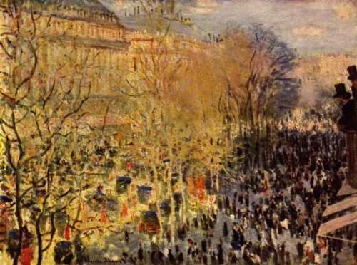 Monet - Boulevard of Capucines in Paris