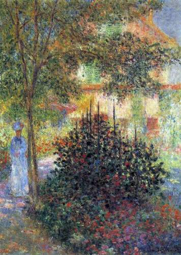Monet - Camille in the garden of the house in Argenteuil