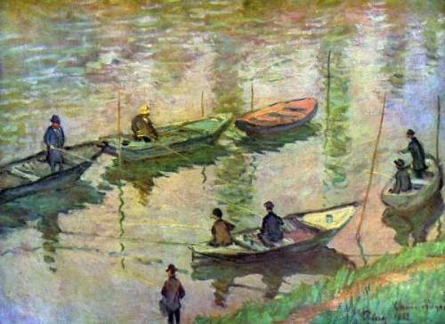 Monet - Fishermen on the Seine at Poissy