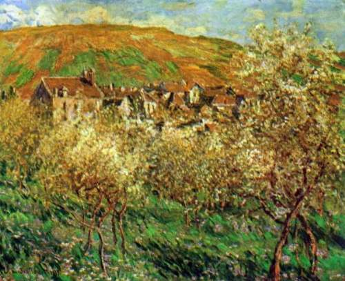 Monet - Flowering apple trees