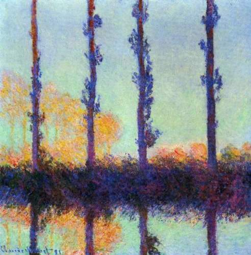 Monet - Four poplars