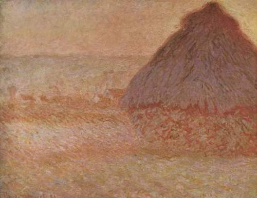 Monet - Haystacks at sunset