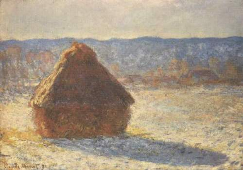 Monet - Haystacks, snow, morning