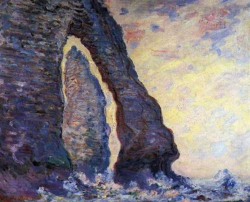 Monet - La Porte d'Aval and the needle at Etretat