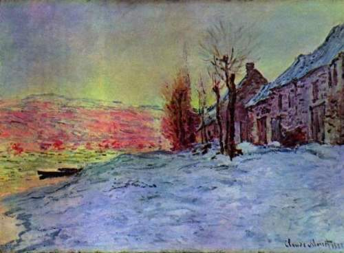 Monet - Lava Court - sunshine and snow