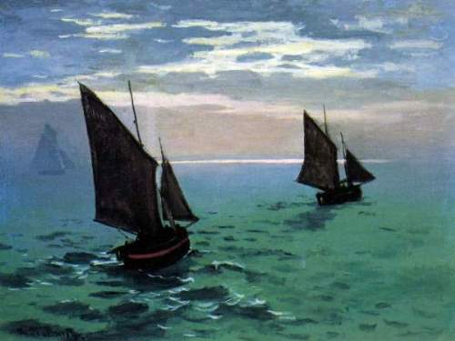 Monet - Le Havre - exit the fishing boats from the port