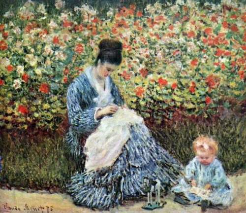 Monet - Madame Monet and child