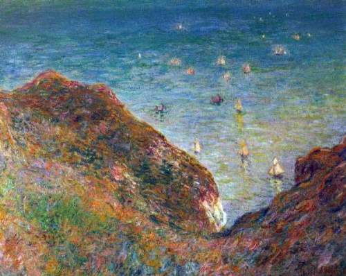 Monet - On the cliffs of Pour Ville, Fine weather