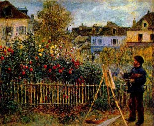 Monet - Painting in his garden in Argenteuil