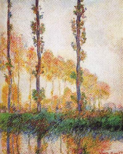 Monet - Poplars in Autumn II